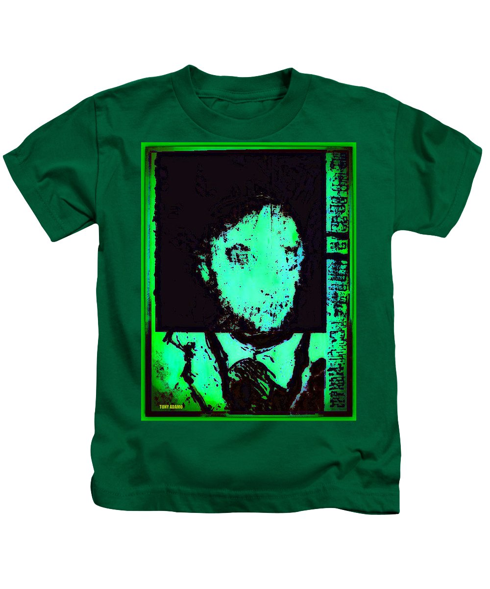 Mr. Fright By Nite Kids T-Shirt featuring the digital art Mr. Fright By Nite by Tony Adamo
