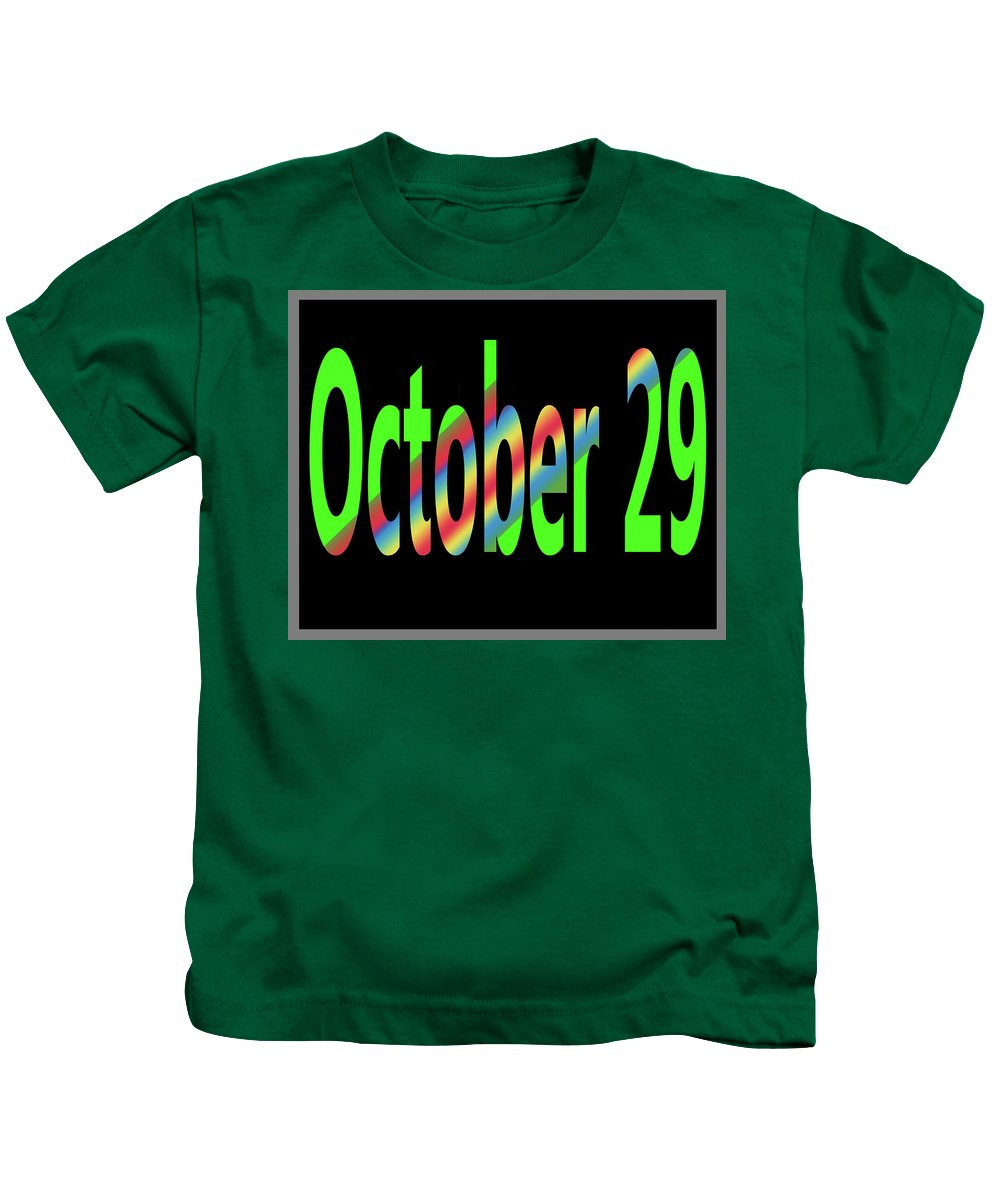 October Kids T-Shirt featuring the digital art October 29 by Day Williams