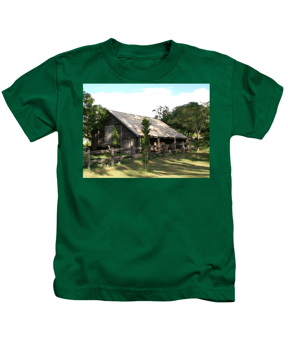 Photo Kids T-Shirt featuring the photograph Old Barn by Brian Leverton