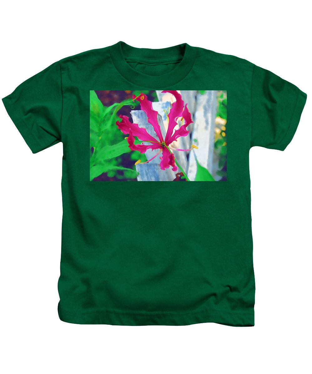 Pink Kids T-Shirt featuring the photograph Pink Flower by Donna Bentley