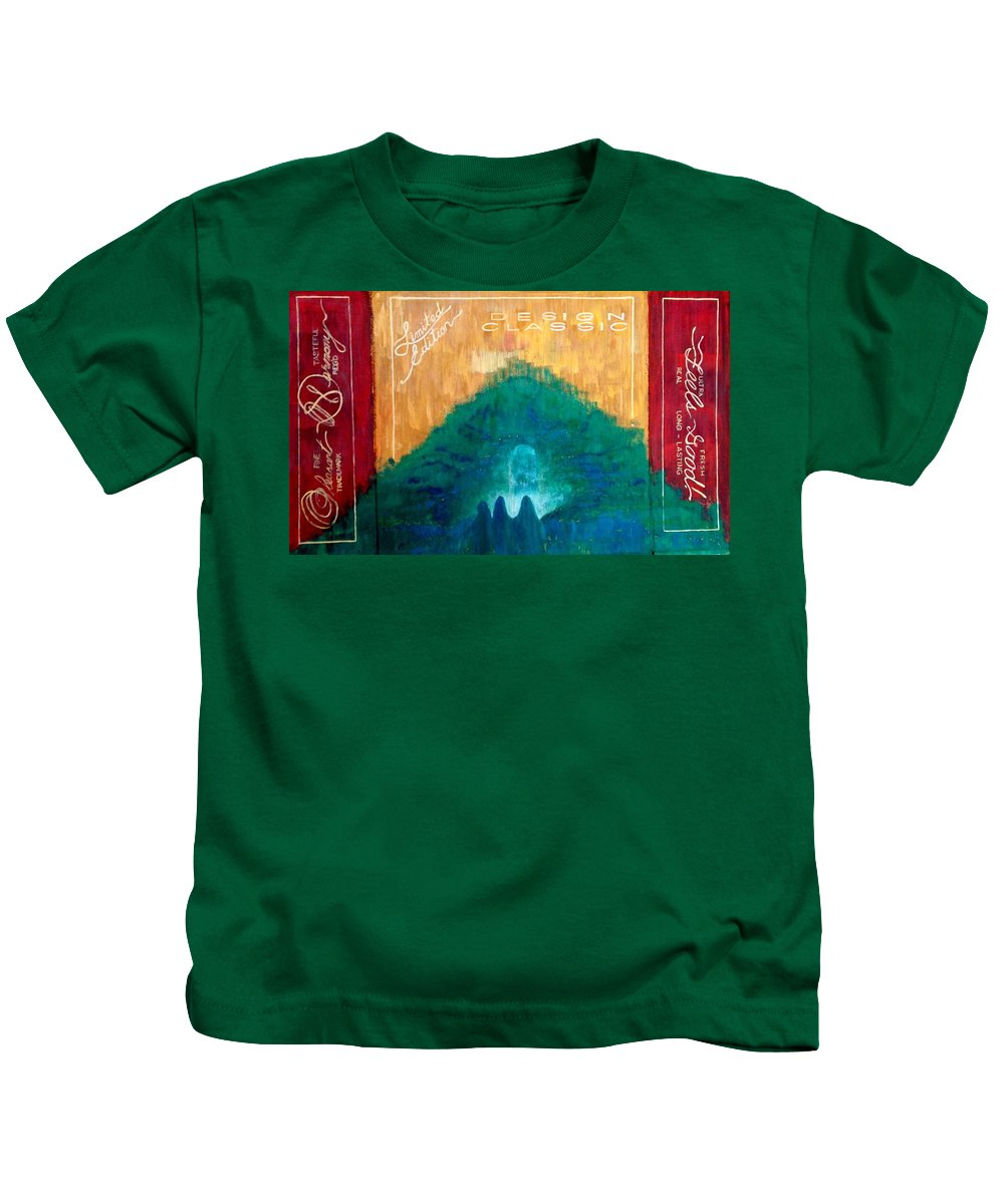 Harmony Kids T-Shirt featuring the painting Pleasant Harmony Feels Good by Contemporary Luxury Fine Art
