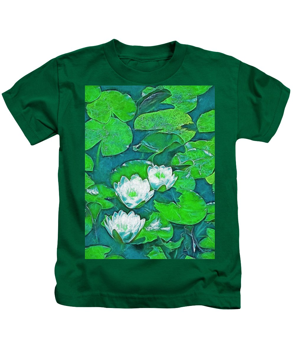 Pond Kids T-Shirt featuring the photograph Pond Lily 2 by Pamela Cooper