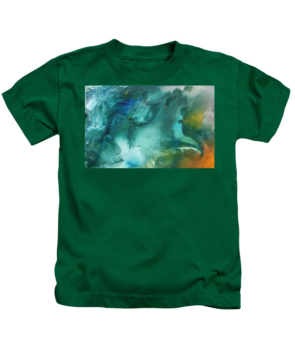 Wall Kids T-Shirt featuring the painting Rainbow Dreams Iv By Madart by Megan Duncanson