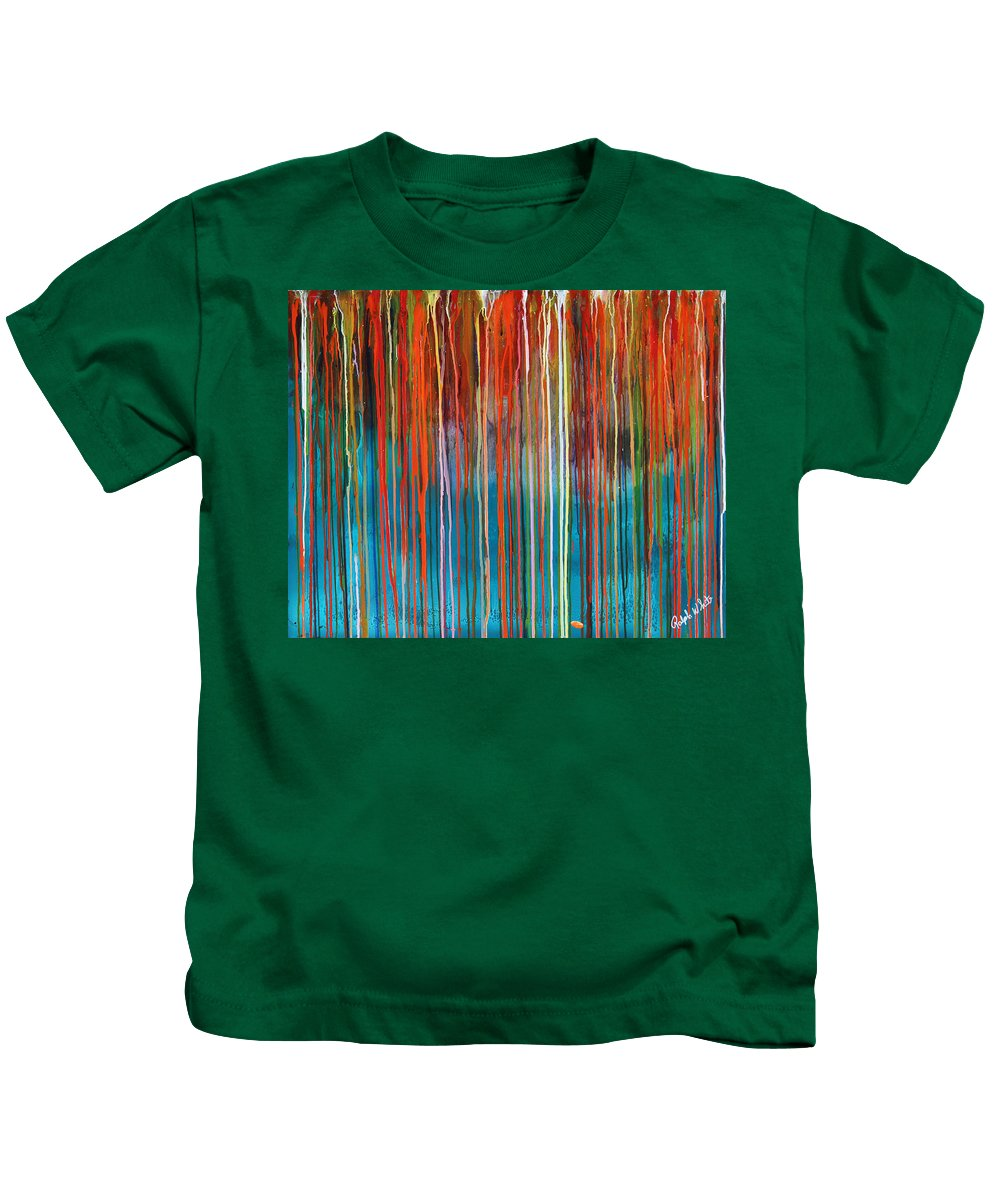 Fusionart Kids T-Shirt featuring the painting Seed by Ralph White