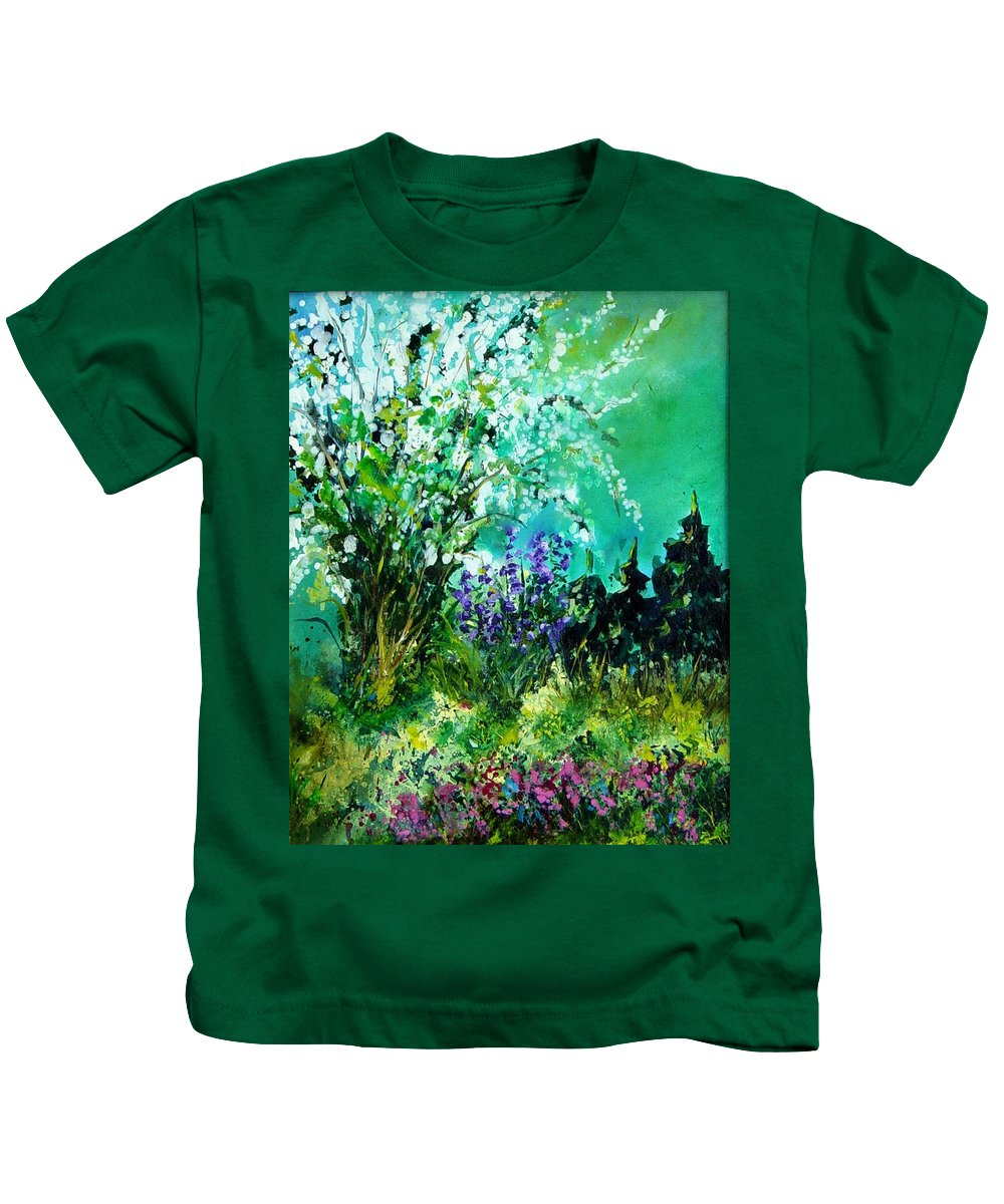 Tree Kids T-Shirt featuring the painting Seringa by Pol Ledent