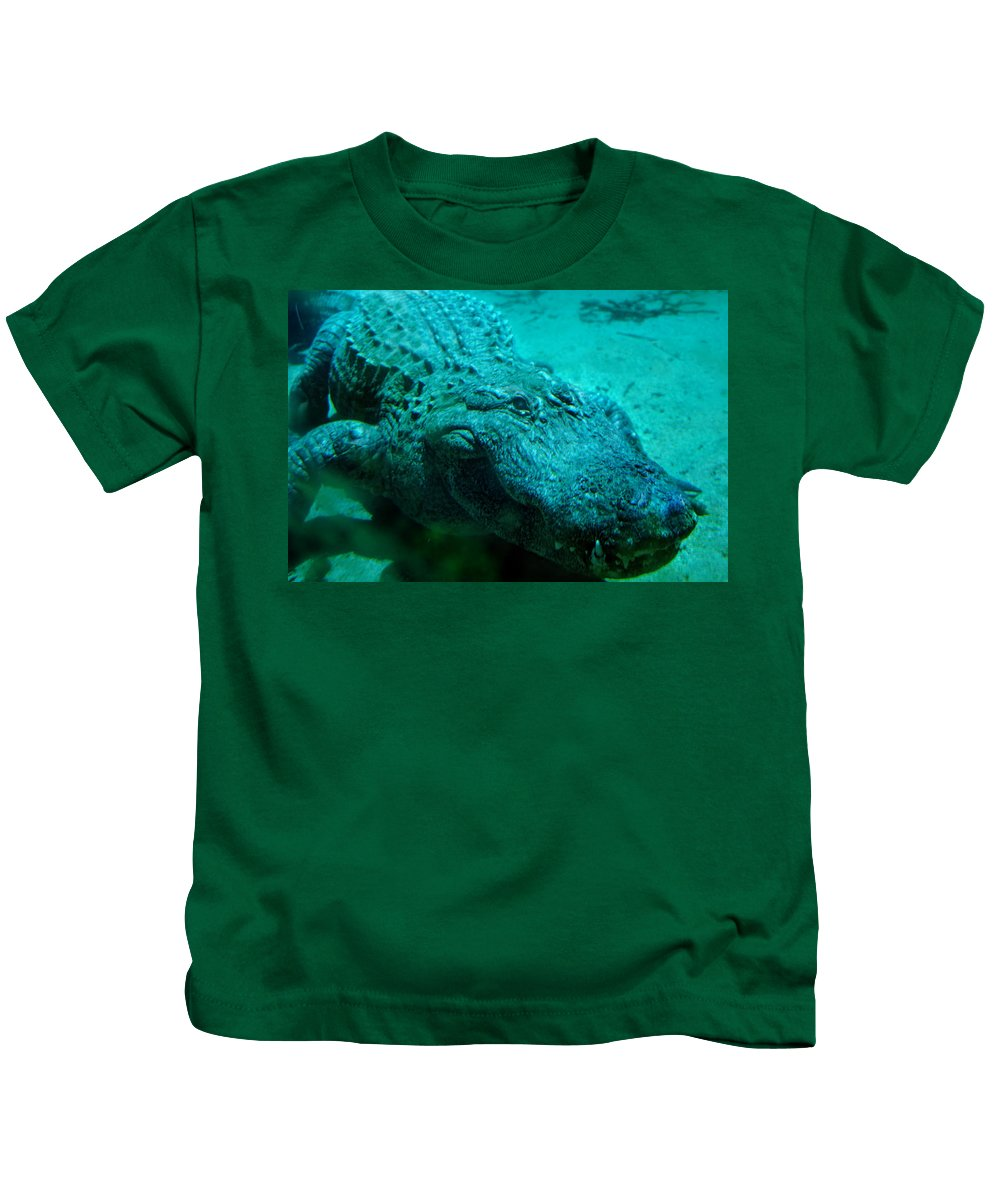 Aligator Kids T-Shirt featuring the photograph Smile Pretty Now by Donna Blackhall
