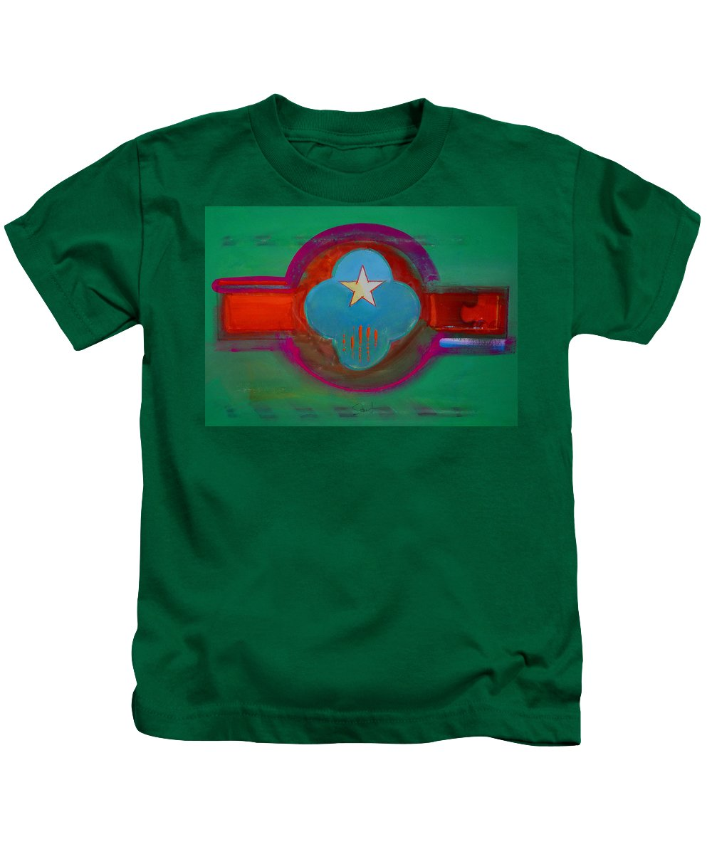 Star Kids T-Shirt featuring the painting Spiritual Green by Charles Stuart