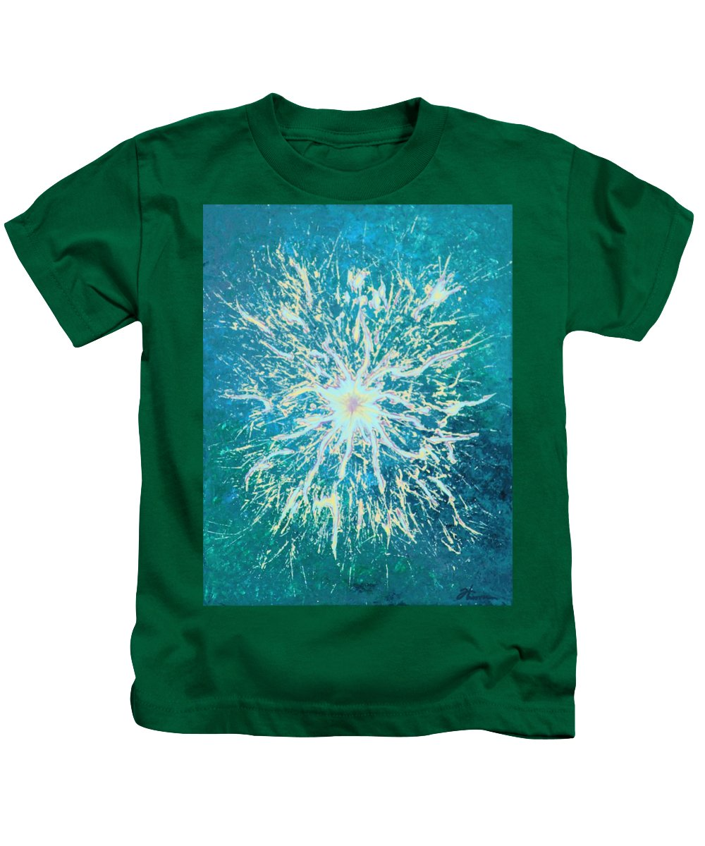 Acrylic Kids T-Shirt featuring the painting Static by Todd Hoover
