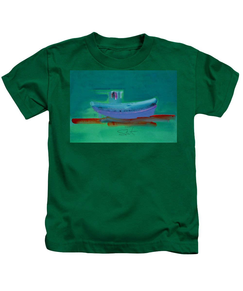 Deep Kids T-Shirt featuring the painting Stormbringer by Charles Stuart