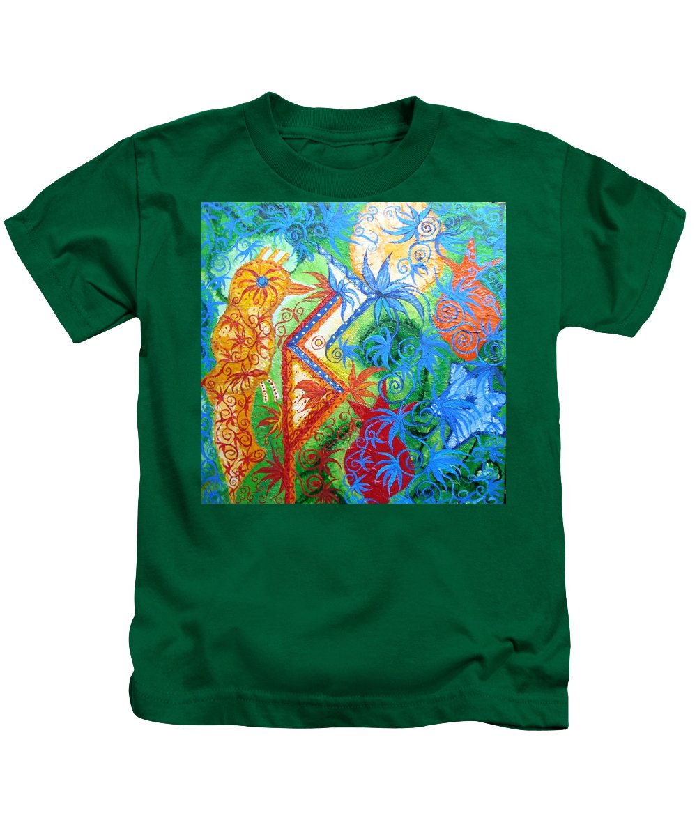 Runes Kids T-Shirt featuring the painting Success From Project by Joanna Pilatowicz