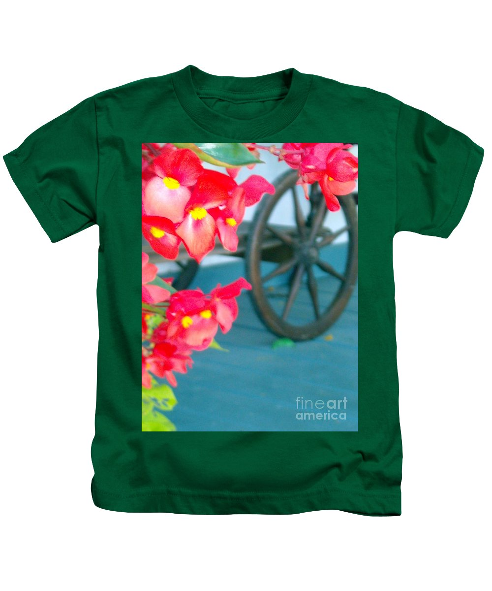 Flowers Kids T-Shirt featuring the photograph Summer Flowers by Line Gagne