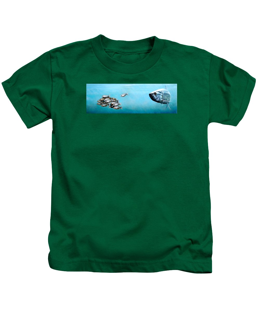Underwater Kids T-Shirt featuring the painting Tampa Bay Tarpon by Joan Garcia