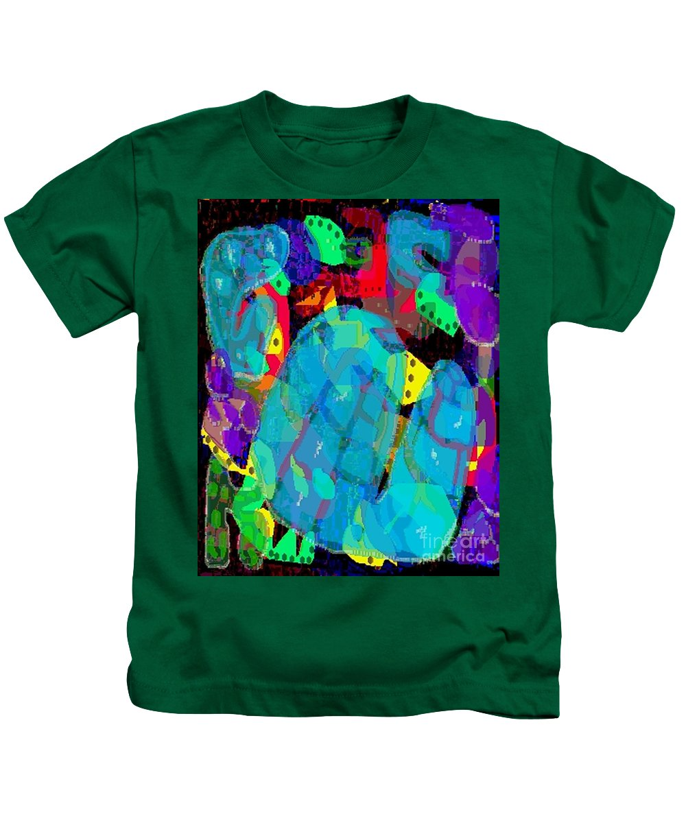 Digital Kids T-Shirt featuring the digital art Transparencies by Ron Bissett