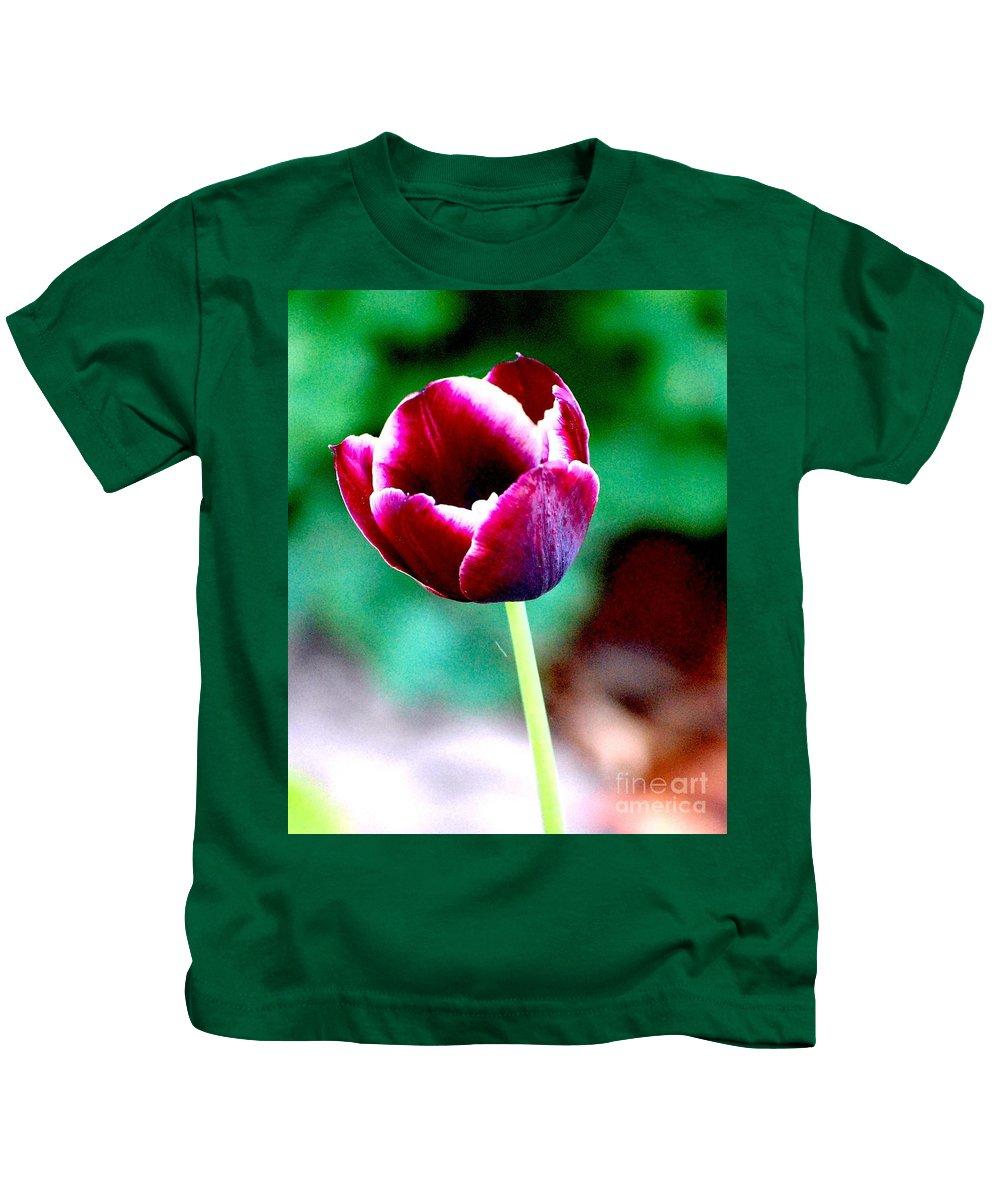 Digital Photo Kids T-Shirt featuring the photograph Tulip Me by David Lane
