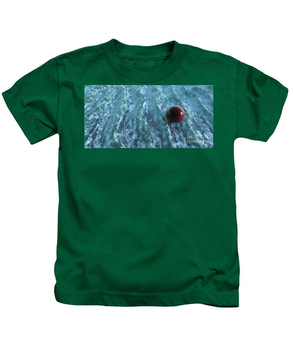 Waves Kids T-Shirt featuring the digital art Turbulence by Richard Rizzo