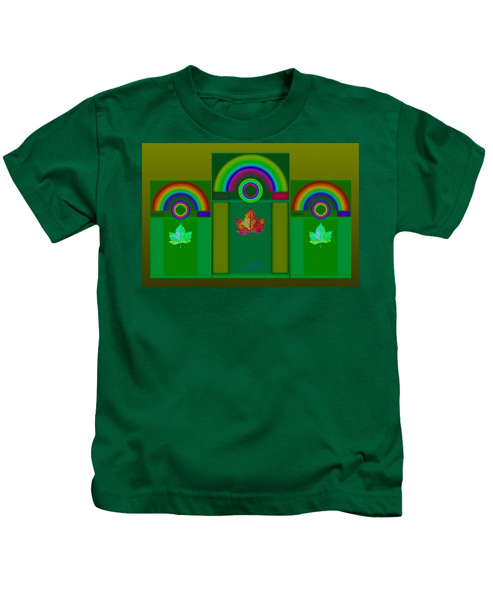 Classical Kids T-Shirt featuring the digital art Tuscan Green by Charles Stuart