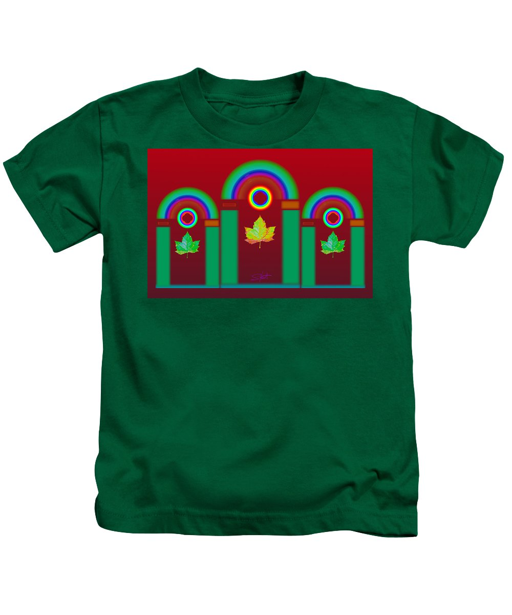 Classical Kids T-Shirt featuring the digital art Tuscan Red by Charles Stuart