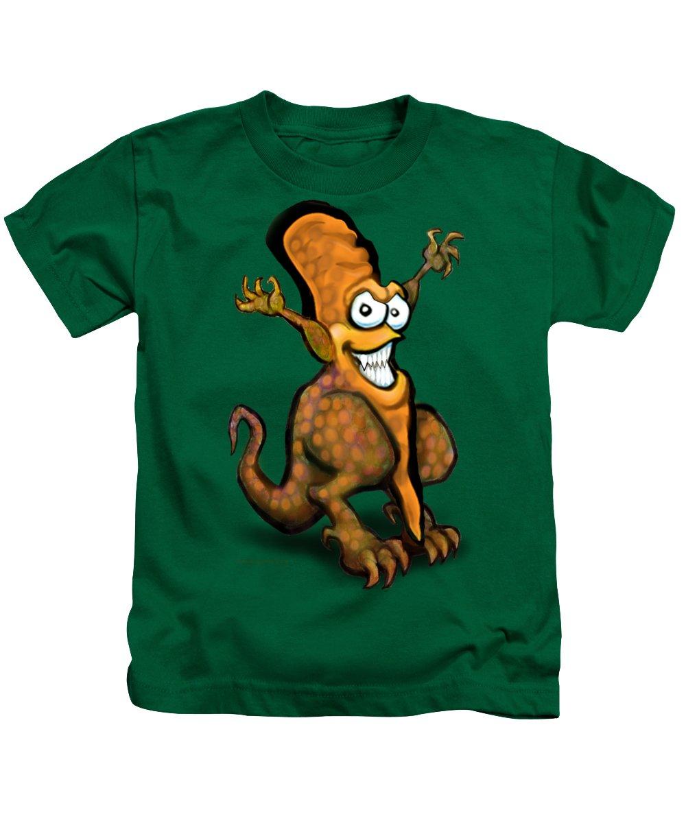 Veggie Kids T-Shirt featuring the painting Veggiesaurus by Kevin Middleton