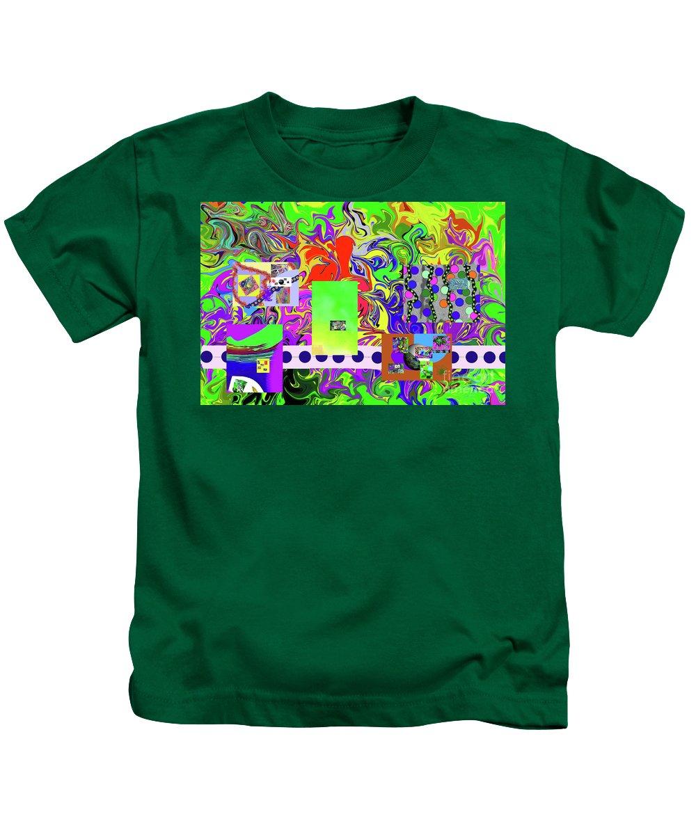 Walter Paul Bebirian Kids T-Shirt featuring the digital art 9-10-2015babcdefghijklmnopqrtuvwx by Walter Paul Bebirian