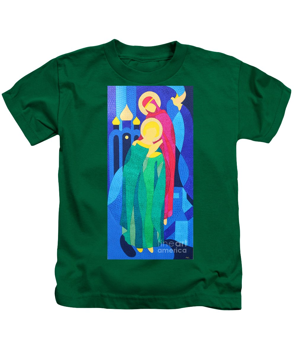 I Created This Painting Under The Impression Of The Peter And Fevronia Love Story. It's Famous Russian Folklore. Kids T-Shirt featuring the painting Peter And Fevronia Of Murom by Natalia Lvova