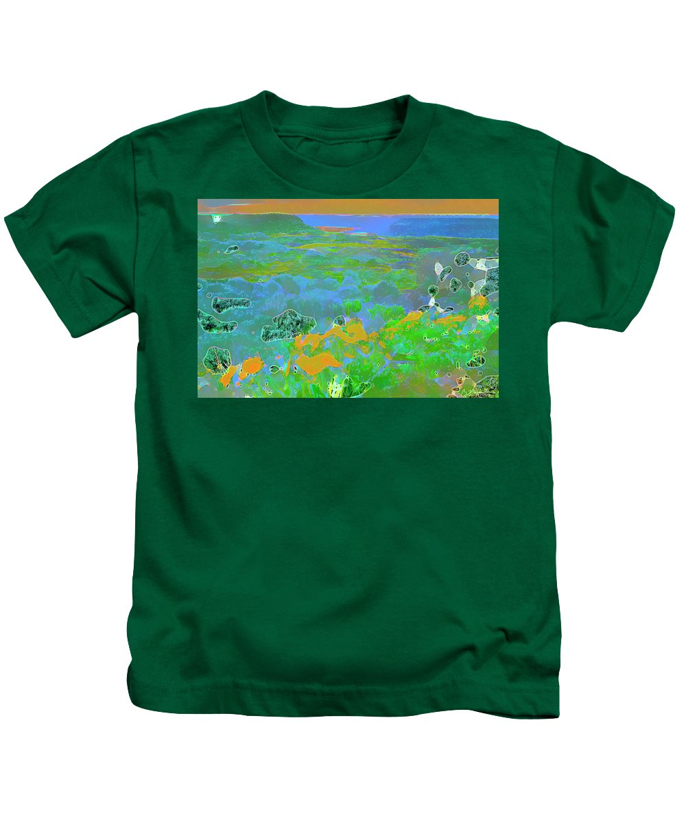 Flowers Kids T-Shirt featuring the digital art Steamboat Rock 03 by Bruce Whitaker