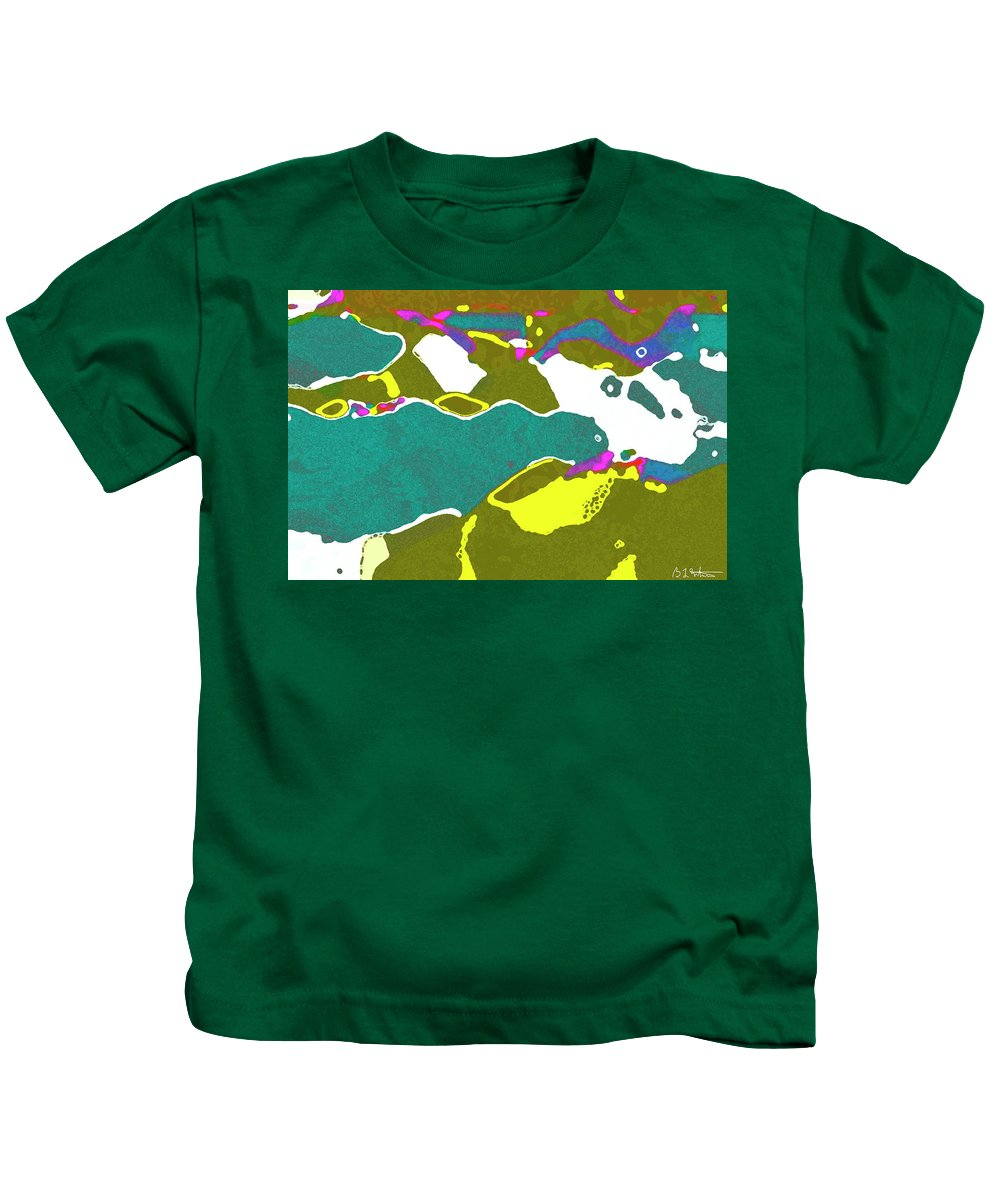 Flowers Kids T-Shirt featuring the digital art Steamboat Rock 09 by Bruce Whitaker