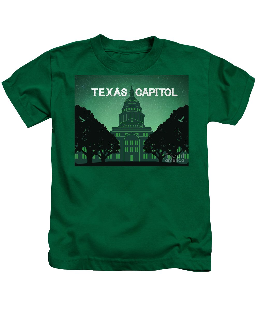 Texas Capitol Kids T-Shirt featuring the photograph Texas Capitol by Weird Austin Photos