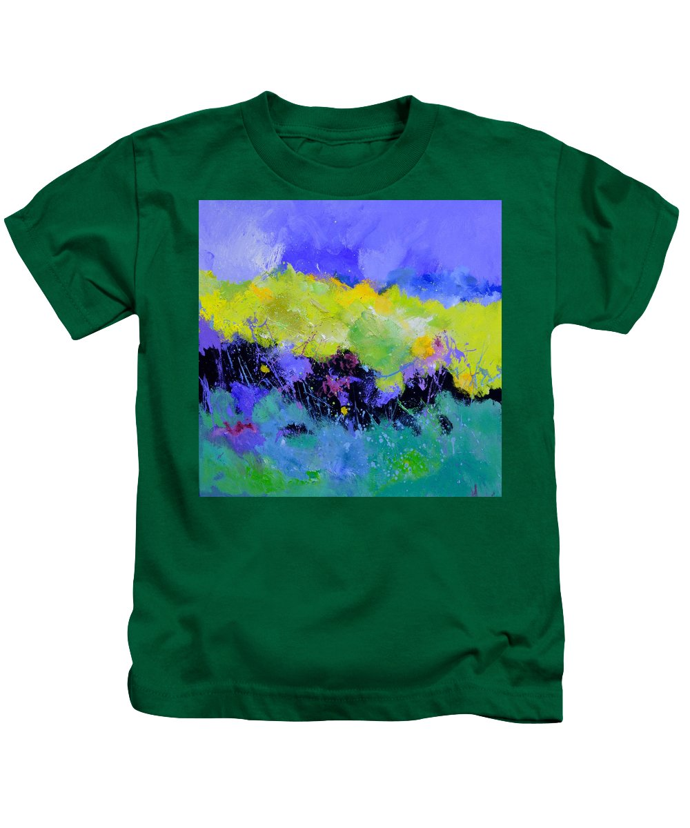 Abstract Kids T-Shirt featuring the painting Easy living by Pol Ledent