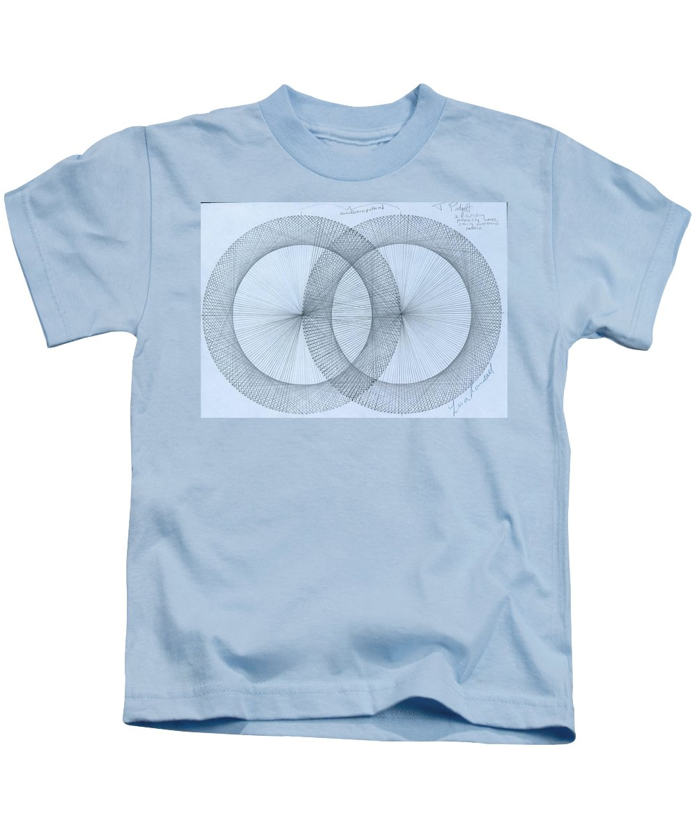 Fractal Kids T-Shirt featuring the drawing Magnetism by Jason Padgett