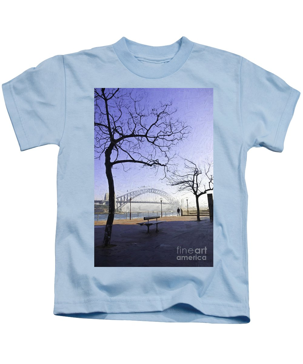 Mist Kids T-Shirt featuring the photograph Misty Sydney morning by Sheila Smart Fine Art Photography