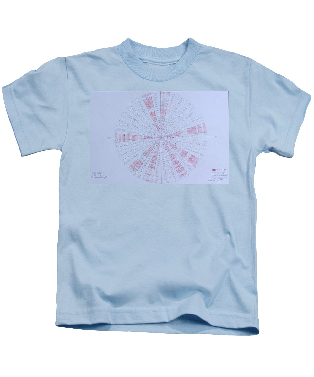 Prime Kids T-Shirt featuring the drawing Prime Number Pattern P Mod 30 by Jason Padgett