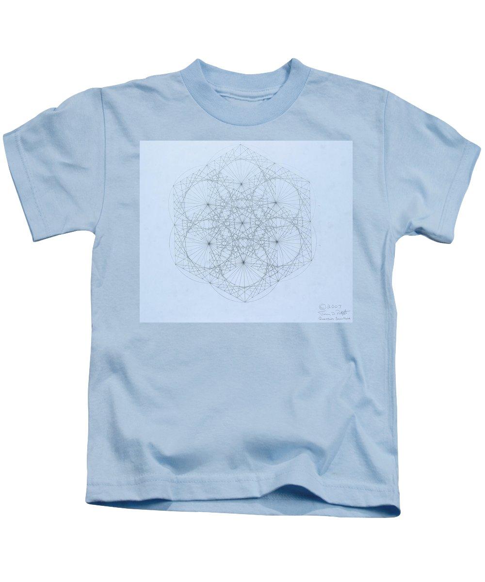 Jason Padgett Kids T-Shirt featuring the drawing Quantum Snowflake by Jason Padgett