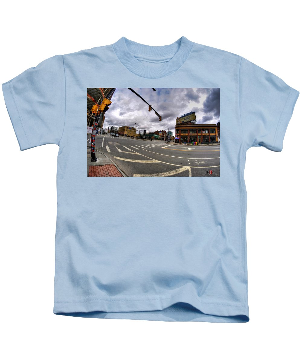 Michael Frank Jr Kids T-Shirt featuring the photograph 0027 Delaware And The Chipp Stripp by Michael Frank Jr