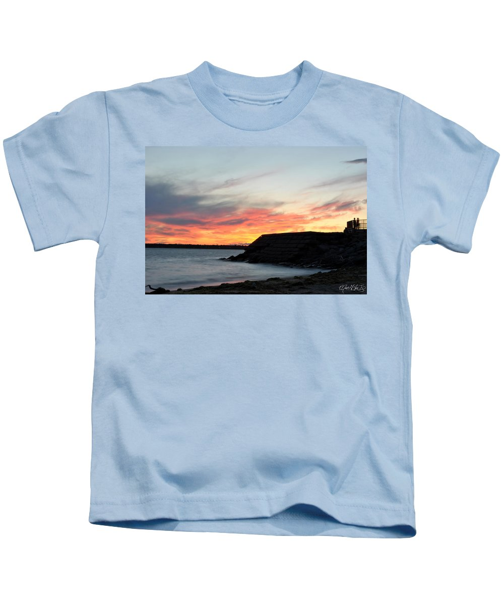 Sunset Kids T-Shirt featuring the photograph 009 Awe In One Sunset Series At Erie Basin Marina by Michael Frank Jr