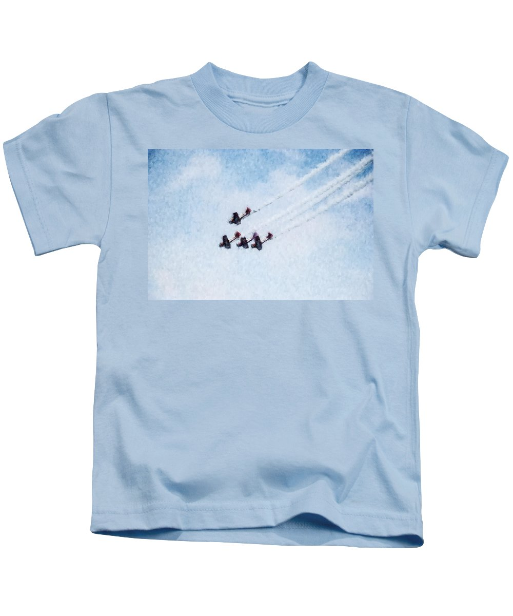 Chicago Kids T-Shirt featuring the digital art 0161 - Air Show - Watercolor by David Lange