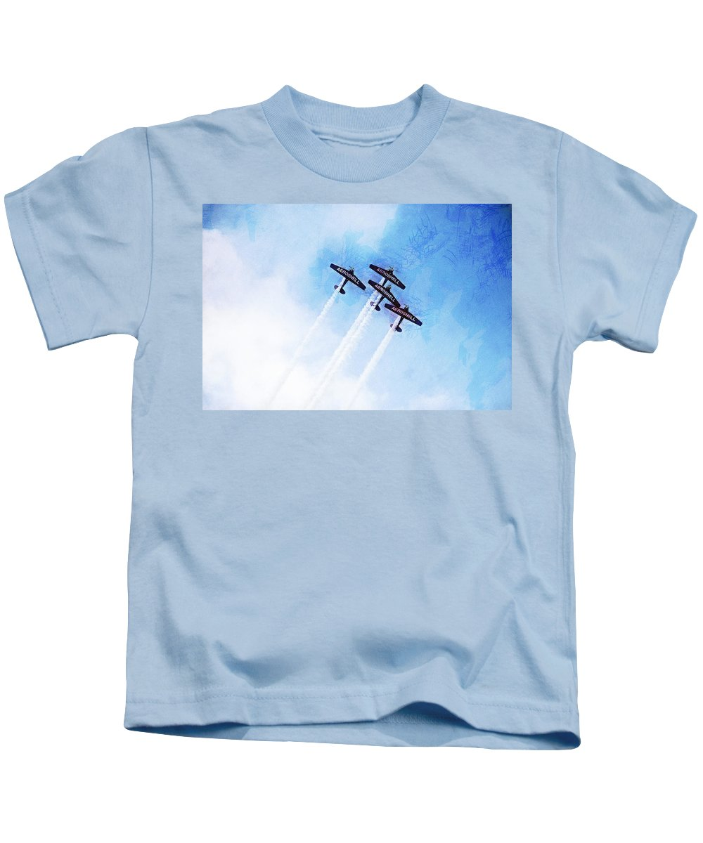 Chicago Kids T-Shirt featuring the digital art 0166 - Air Show - Lux by David Lange