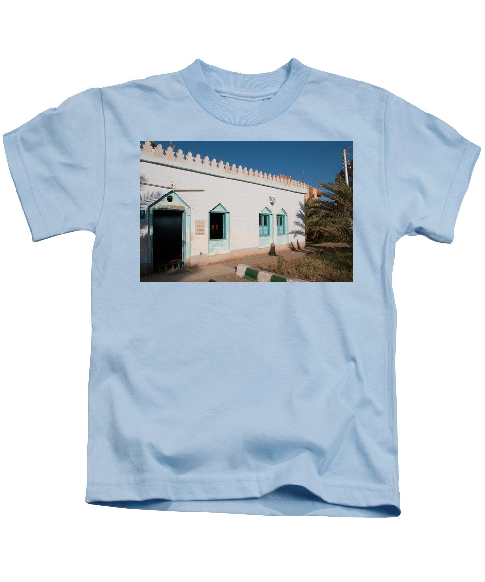 Architecture Details Kids T-Shirt featuring the digital art Dakhla by Carol Ailles