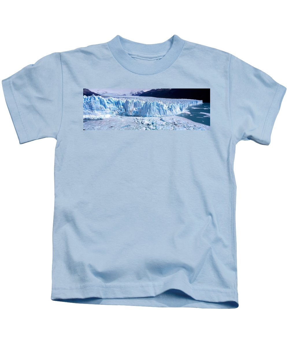 Photography Kids T-Shirt featuring the photograph Glacier, Moreno Glacier, Argentine by Panoramic Images