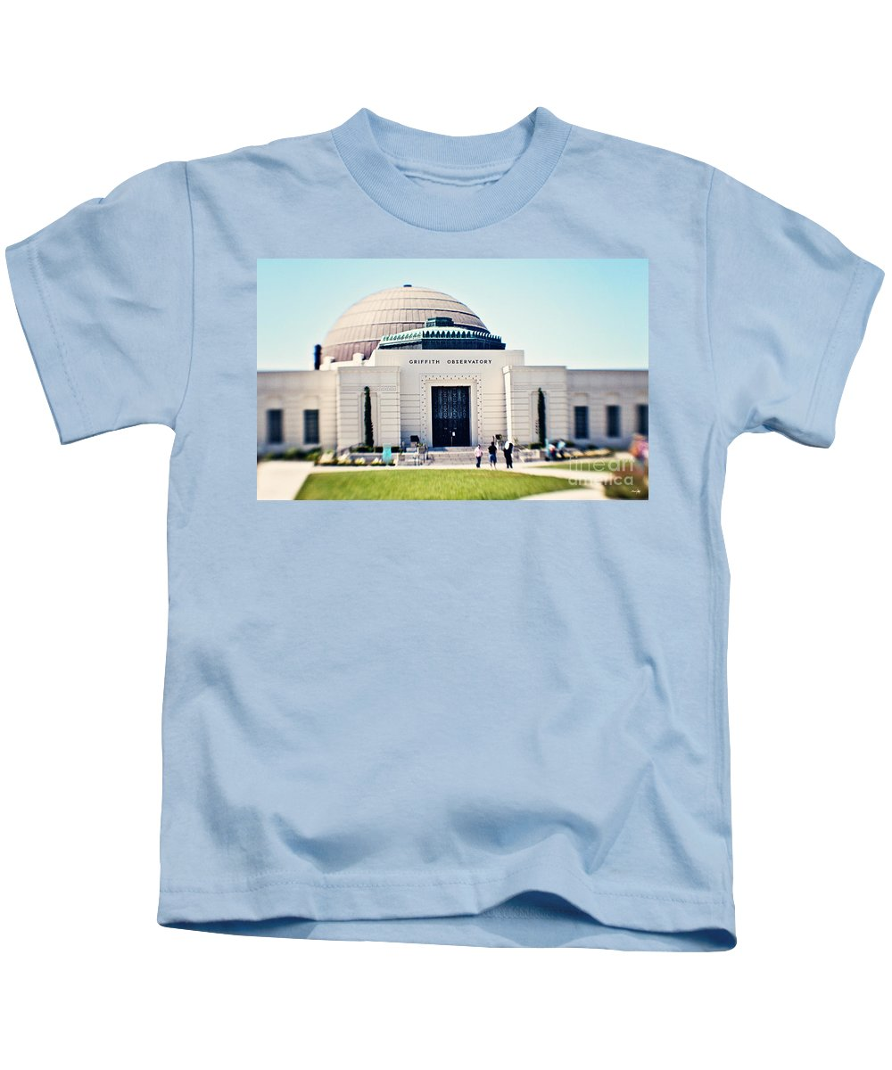 Griffith Observatory Kids T-Shirt featuring the photograph Griffith Observatory by Scott Pellegrin