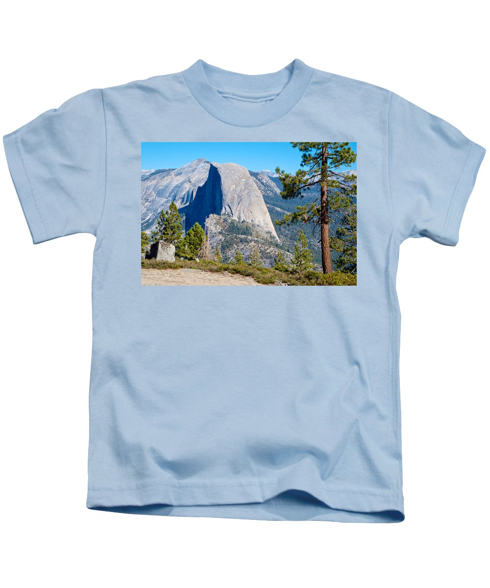 Half Dome From Sentinel Dome Trail In Yosemite Np Kids T-Shirt featuring the photograph Half Dome From Sentinel Dome Trail In Yosemite Np-ca by Ruth Hager