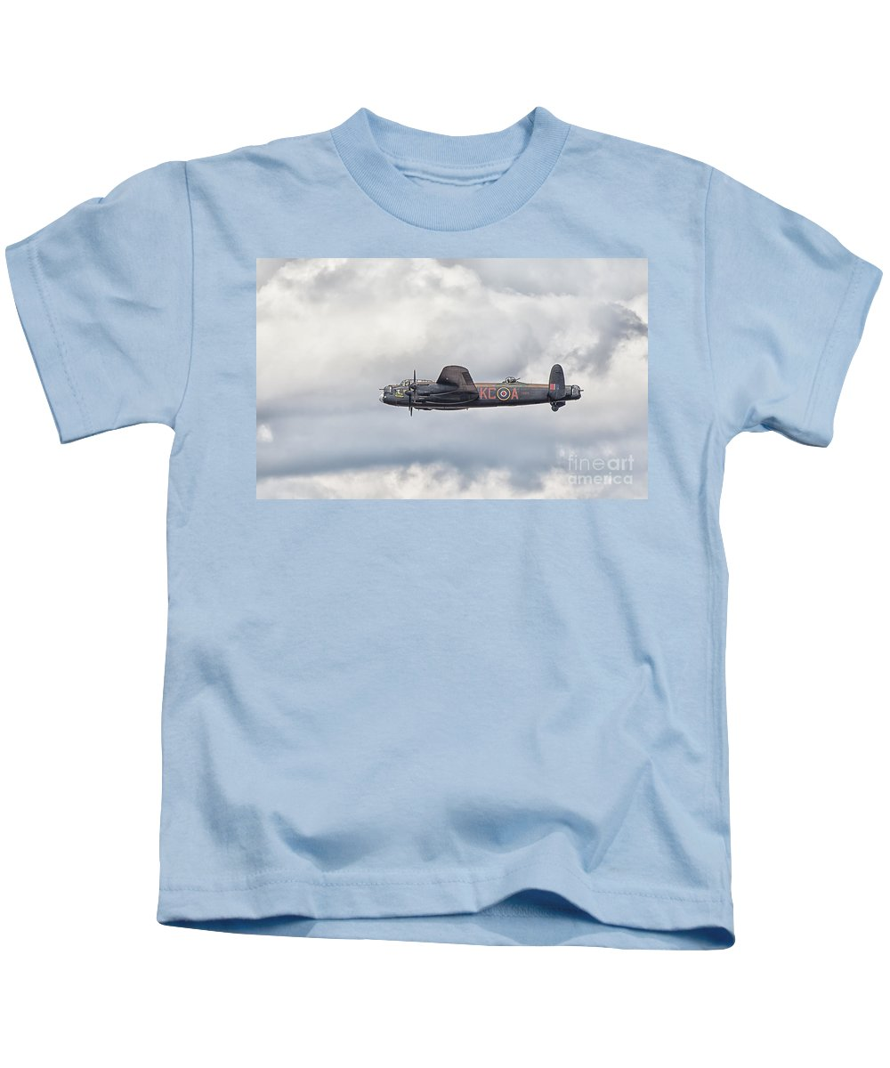 Aeroplane Kids T-Shirt featuring the photograph Lancster by Shaun Wilkinson