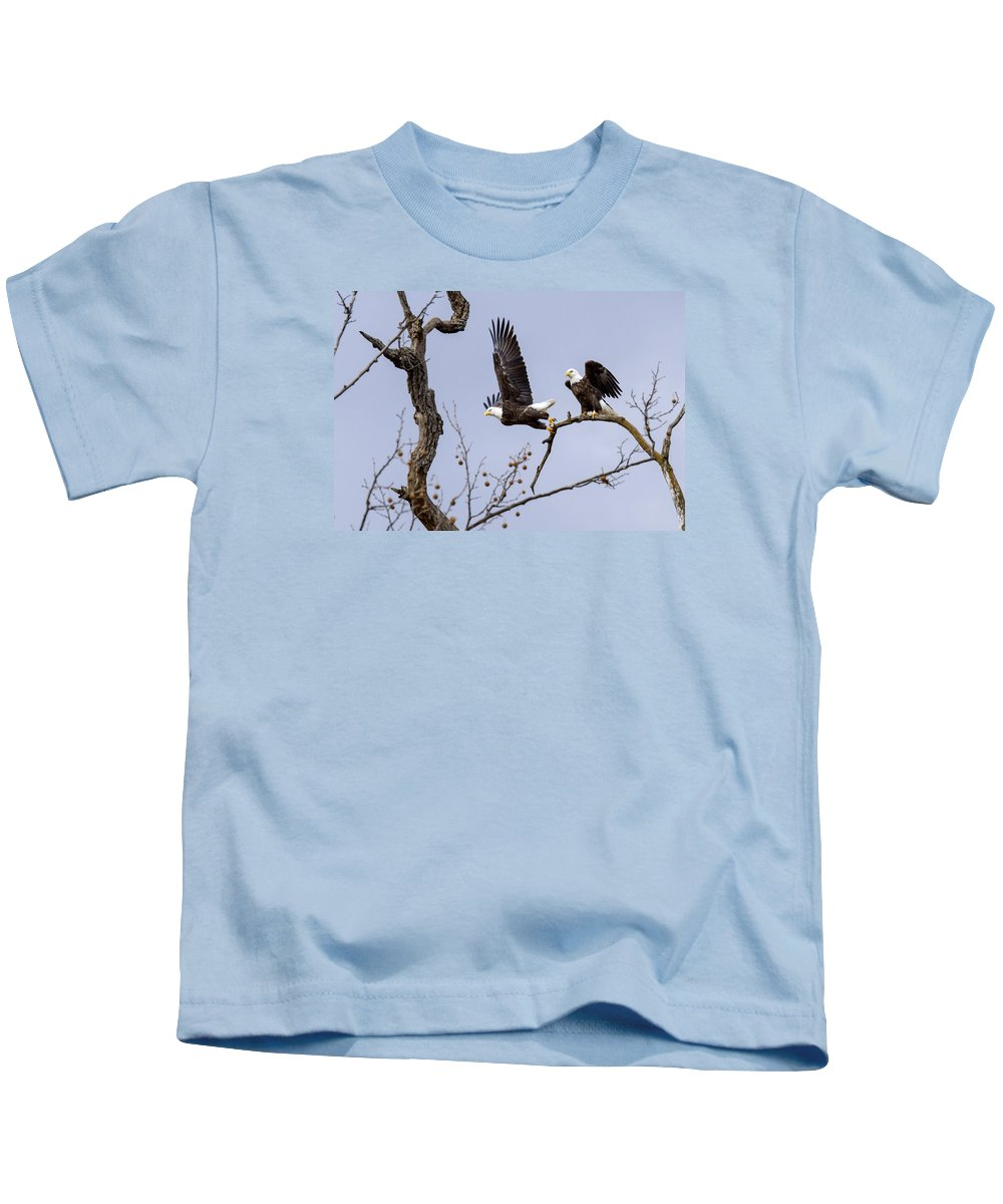 Eagle Kids T-Shirt featuring the photograph Majestic Beauty by David Lester