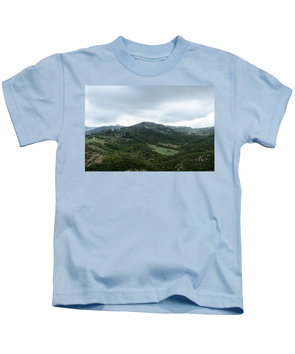 Landscape Kids T-Shirt featuring the photograph Mountain Landscape Of Italy by Andrea Mazzocchetti
