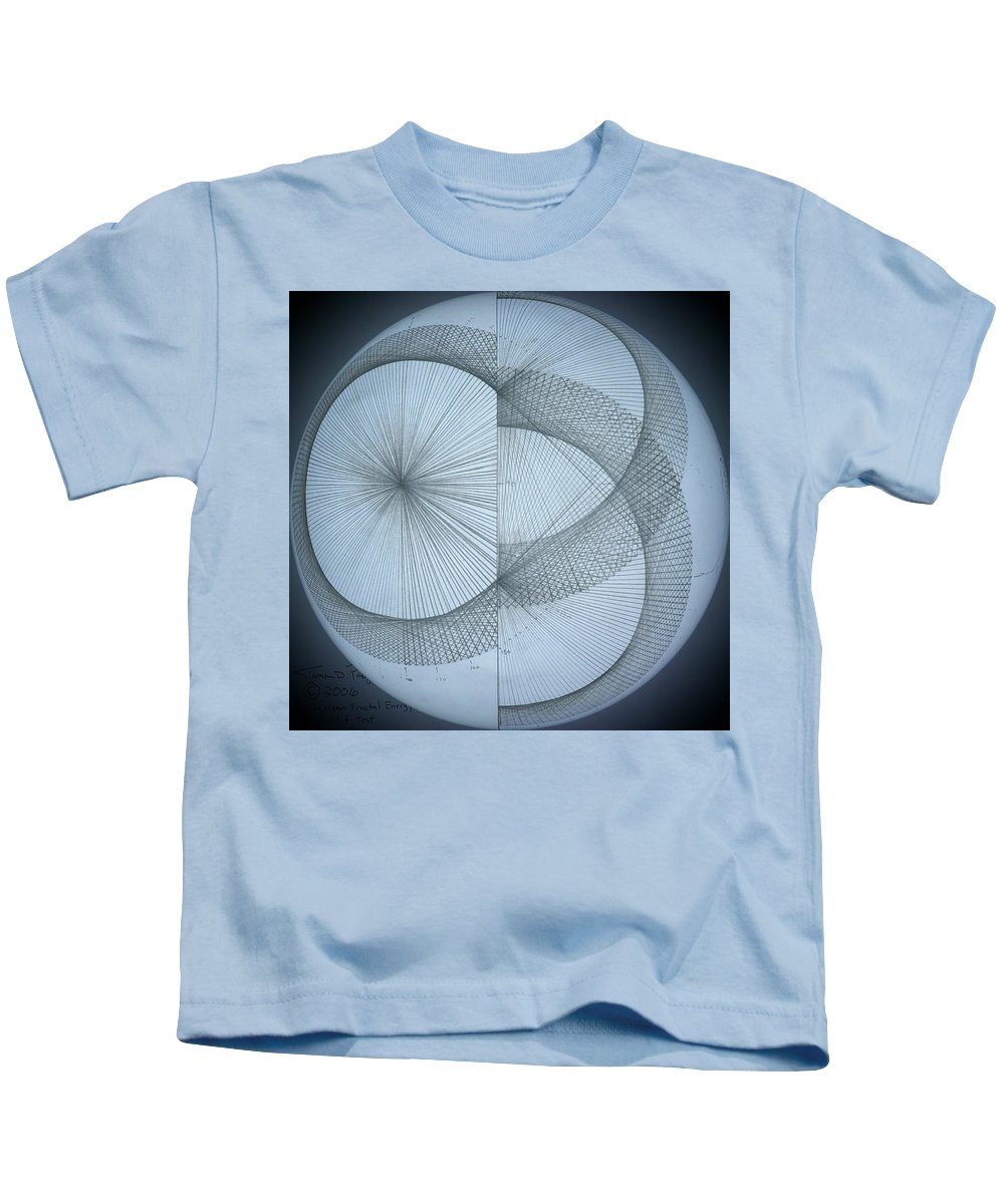 Photon Kids T-Shirt featuring the drawing Photon Double Slit Test by Jason Padgett