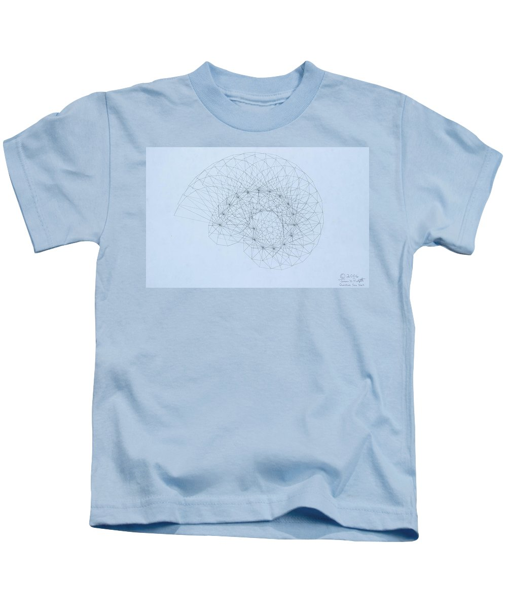 Jason Padgett Kids T-Shirt featuring the drawing Quantum Nautilus by Jason Padgett