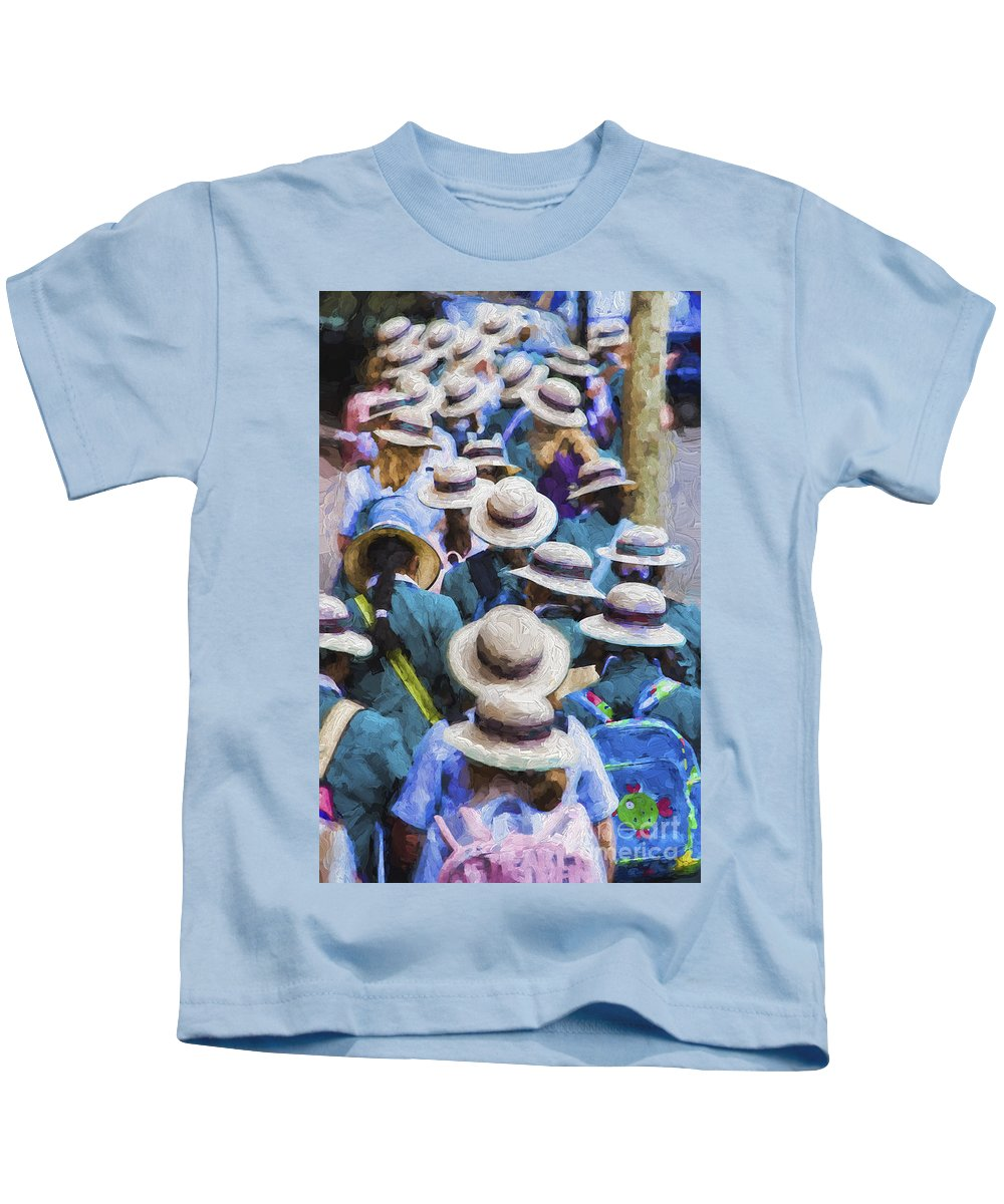 Sea Of Hats Kids T-Shirt featuring the photograph Sea of Hats by Sheila Smart Fine Art Photography