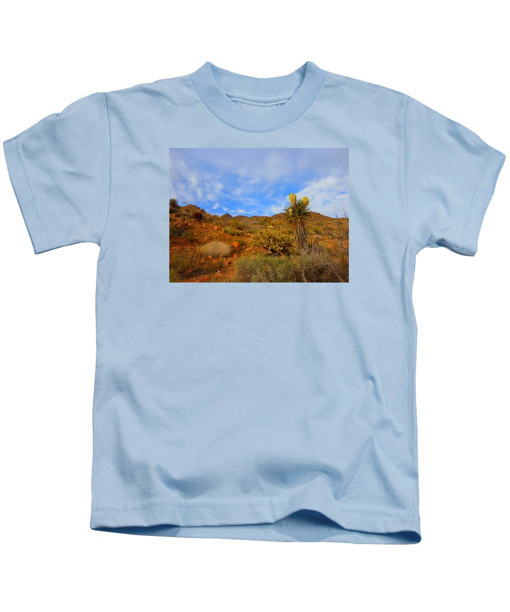 Landscape Kids T-Shirt featuring the photograph Springtime In Arizona by James Welch