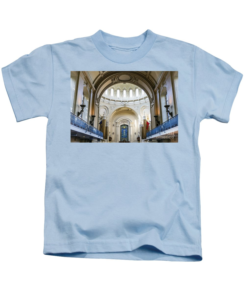 America Kids T-Shirt featuring the photograph The United States Naval Academy Chapel by John Greim