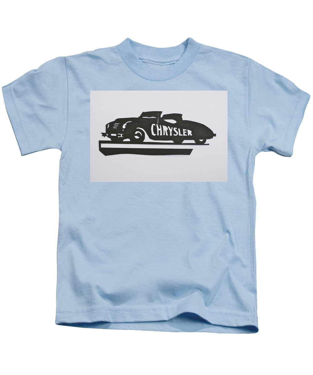 Indianapolis 500 Kids T-Shirt featuring the mixed media 1941 Chrysler Indianapolis 500 Pace Car by Anna Ruzsan