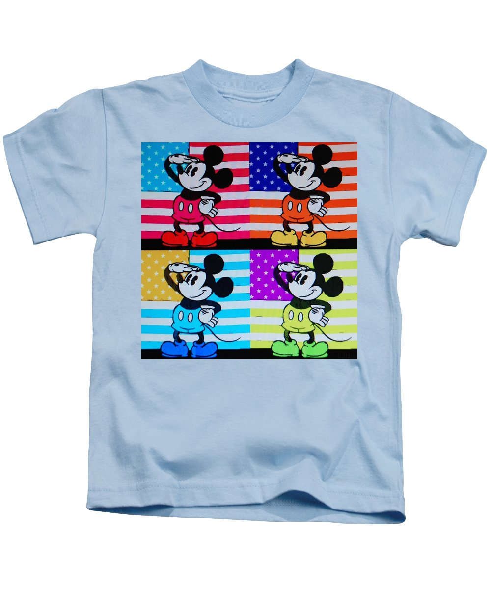 Mickey Mouse Kids T-Shirt featuring the photograph American Mickey by Rob Hans